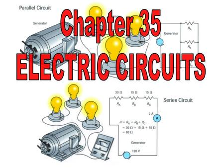 Chapter 35 ELECTRIC CIRCUITS.