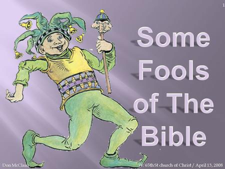 Some Fools of The Bible Don McClain