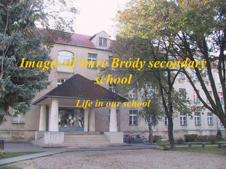 Images of Imre Bródy secondary school Life in our school.