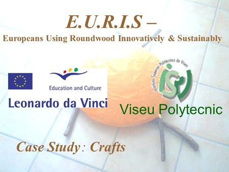 Viseu Polytecnic E.U.R.I.S – Europeans Using Roundwood Innovatively & Sustainably Case Study : Crafts.