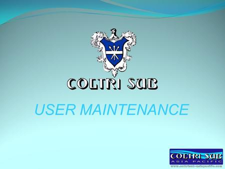 USER MAINTENANCE.