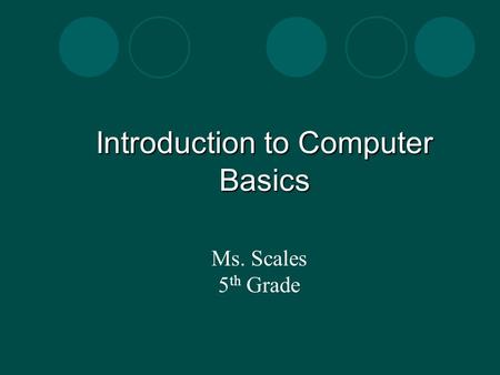 Introduction to Computer Basics