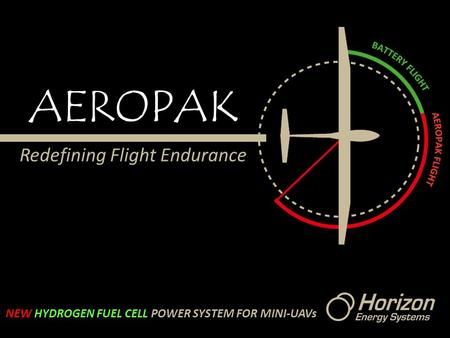 AEROPAK Redefining Flight Endurance NEW HYDROGEN FUEL CELL POWER SYSTEM FOR MINI-UAVs.