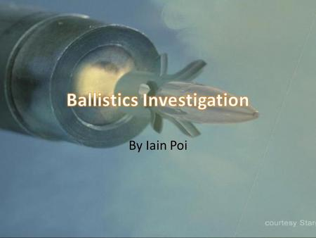 By Iain Poi. Basis Ballistics is a field in forensic science that is used to investigate and corroborate clues from traces left behind from a gunfight.