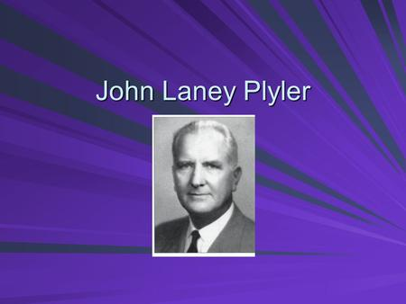 John Laney Plyler. Wall of Fame Merit Longest serving President at Furman and responsible for many changes Longest serving President at Furman and responsible.
