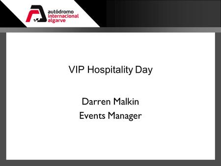 Darren Malkin Events Manager