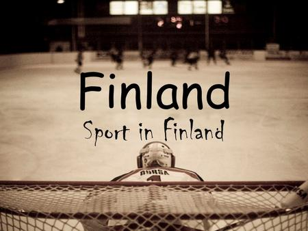 Finland Sport in Finland. Finland Year of EU entry: 1995 Capital city: Helsinki Total area: 338 000 km² Population: 5.3 million Finland, a country of.