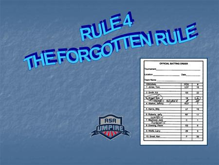 DIGGING INTO RULE 4 PRESENTED BY: PRESENTED BY: Kevin Wallace – District #2 Kevin Wallace – District #2 Leon Watson – District #4 Leon Watson – District.