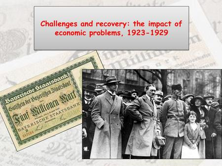 Challenges and recovery: the impact of economic problems,