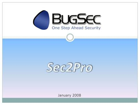 January 2008. BugSec Products Challenges Data security aspects become a critical elements in modern companies proceeding. Many organizations are required.