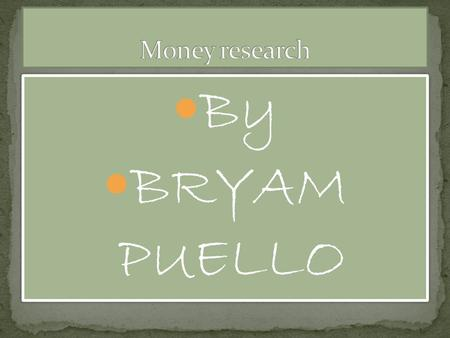 By BRYAM PUELLO By BRYAM PUELLO. the front The back.