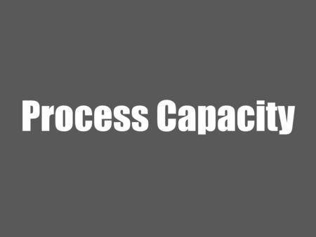 Process Capacity. 2 Ardavan Asef-Vaziri June-2013Capacity- Basics A Process; Three Sequential Activities You Oven Friend 15 minutes 205 3 sequential activities;
