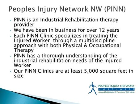 Peoples Injury Network NW (PINN)