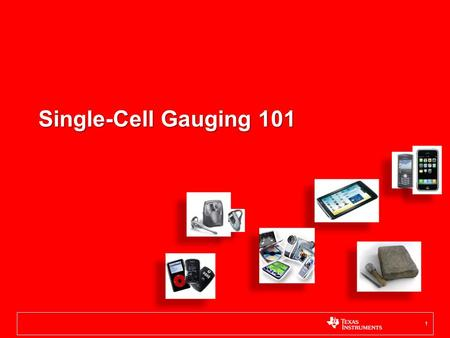 Single-Cell Gauging 101.