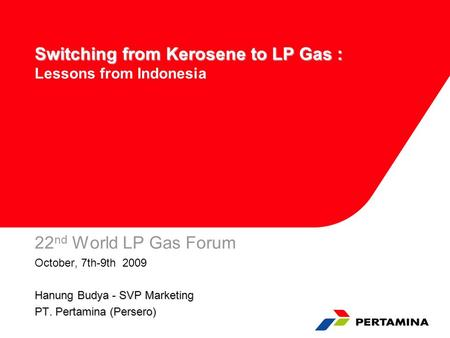 Switching from Kerosene to LP Gas : Lessons from Indonesia