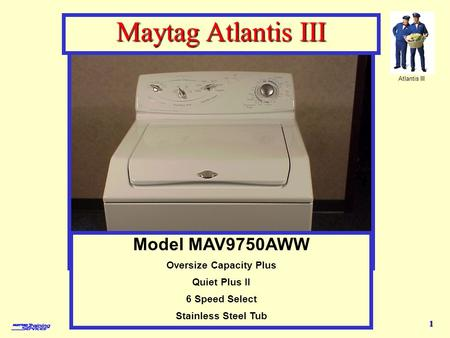 Model MAV9750AWW - features