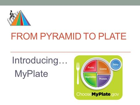 From Pyramid to Plate Introducing… MyPlate.