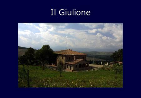 Il Giulione. Entrance door on right side of lodge, leads into small entrance hall.