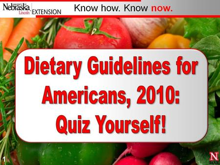 Dietary Guidelines for