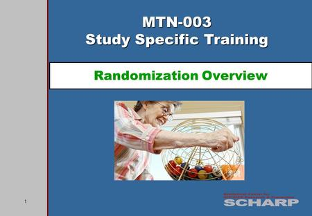 1 MTN-003 Study Specific Training Randomization Overview.