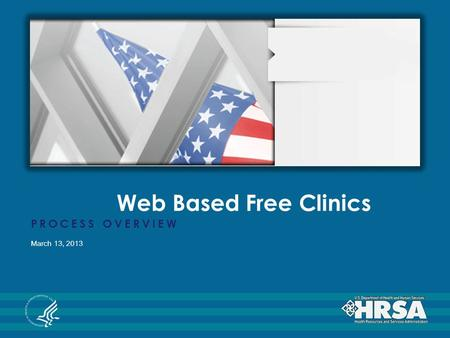 Web Based Free Clinics PROCESS OVERVIEW March 13, 2013.
