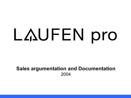 Sales argumentation and Documentation 2004. Brand All items marked by logo: CC Product Management 2 back to Index.