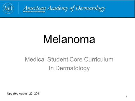 Medical Student Core Curriculum In Dermatology
