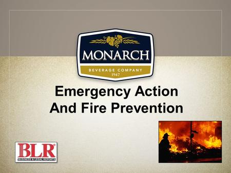 Emergency Action And Fire Prevention. Session Objectives You will be able to: Understand hazards that lead to an emergency Evacuate an area in an emergency.