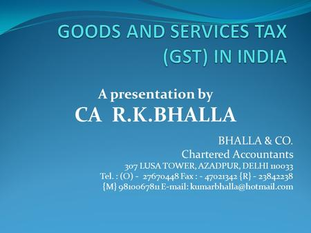 Goods and Services Tax (GST): What It Is and How It Works