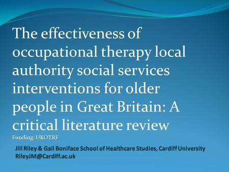 an overview of occupational therapist