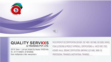 About Us:- Quality Services & Training Pvt. Ltd. was setup with the aim of providing higher end training and system services which was established in.