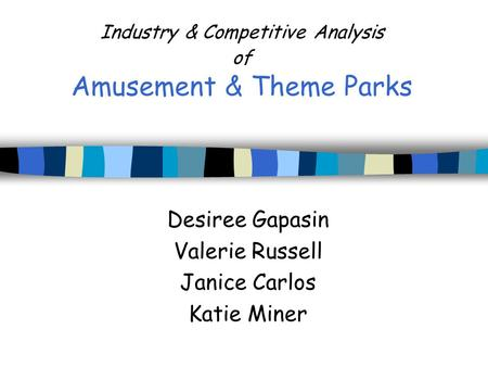 Industry & Competitive Analysis of Amusement & Theme Parks