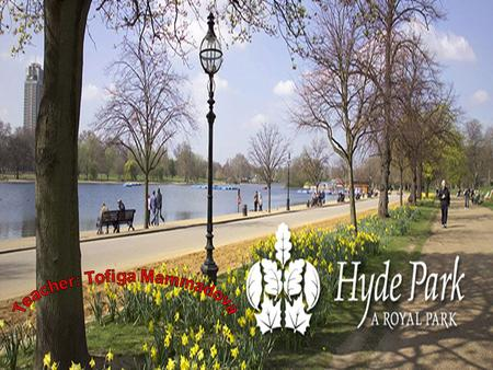 Title. Hyde Park has been a royal park since 1536.It was once part of the forest where Henry the 8 th hunted wild animals.Hyde Park now has 146 hectares.