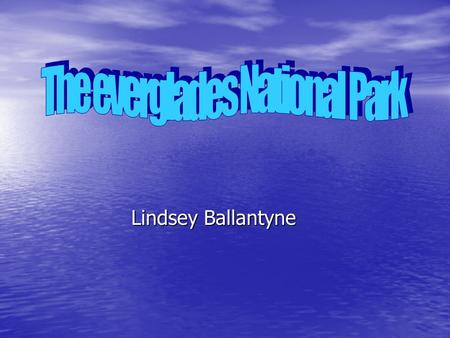 Lindsey Ballantyne. Everglades is located on southern section of the Florida peninsula, about 20 miles away from the Biscayne National Park. Everglades.
