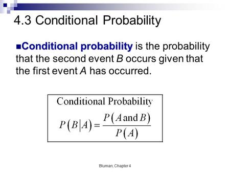 4.3 Conditional Probability