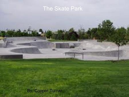 The Skate Park By: Cooper Turner. Number one At the skate park there were thirty scooters, 10 of them had district decks five had fasen decks and 15 of.