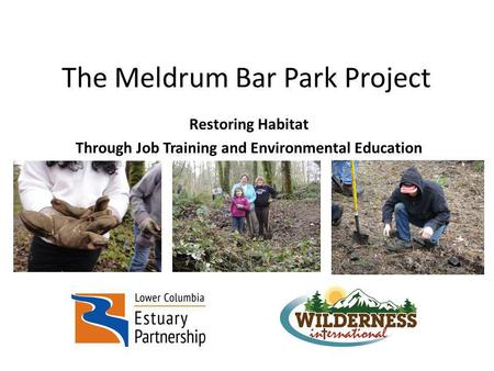 The Meldrum Bar Park Project Restoring Habitat Through Job Training and Environmental Education.