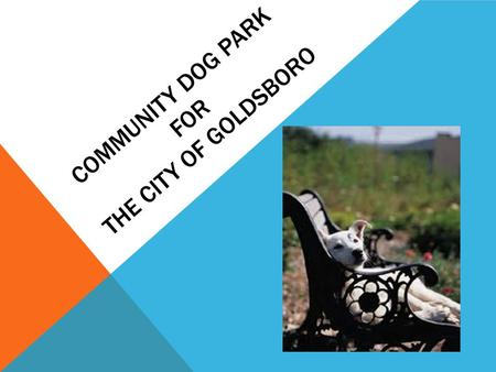 COMMUNITY DOG PARK FOR THE CITY OF GOLDSBORO. BACKGROUND 46.3 million United States households own a dog. With that statistic, dogs ranked number one.