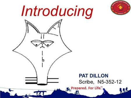 Introducing PAT DILLON Scribe, N5-352-12. VALUES, Mission, and Vision.