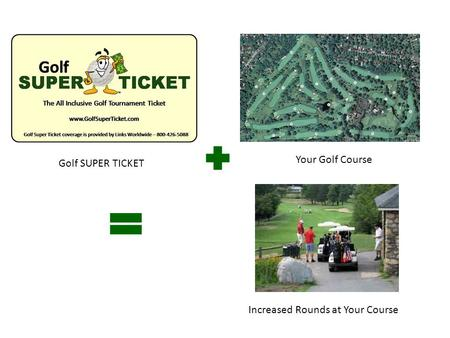 Golf SUPER TICKET Your Golf Course Increased Rounds at Your Course.