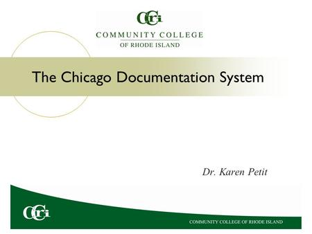 The Chicago Documentation System