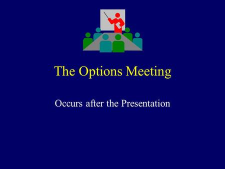 The Options Meeting Occurs after the Presentation.