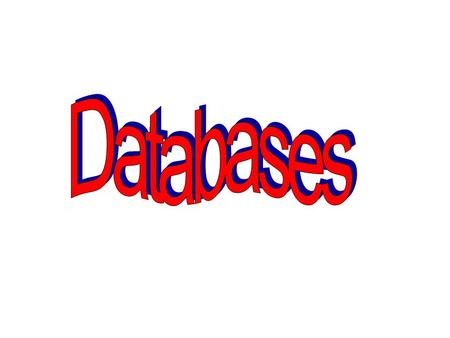What is a database? stores information data Compare the Argos Catalogue with argos.co.uk What are the advantages and disadvantages of both?