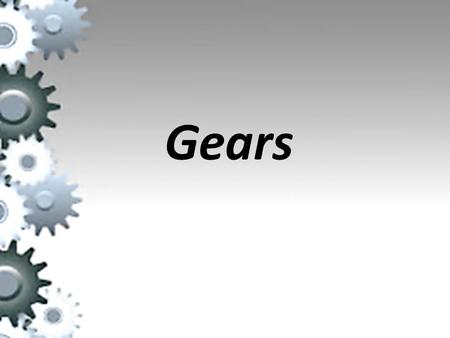 Gears. A gear or cogwheel is a rotating machine part having cut teeth, or cogs, which mesh with another toothed part in order to transmit torque, in most.