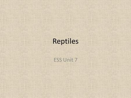 Reptiles ESS Unit 7. 4 Living Orders Squamata – snakes and lizards Crocodilia – crocodiles and alligators Testudinata – turtles and tortoises Sphenodonta.