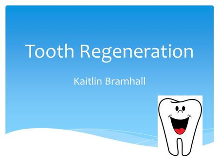 Tooth Regeneration Kaitlin Bramhall. American alligators have similar tooth structure to humans They can regrow teeth up to 50 times! How can scientists.