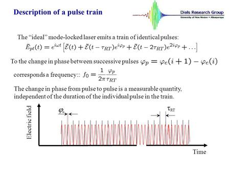 Description of a pulse train