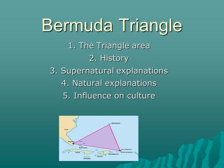 Paper presentation on bermuda triangle