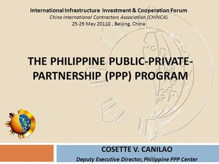 The Philippine Public-Private-Partnership (PPP) Program