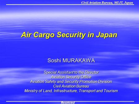 Air Cargo Security in Japan